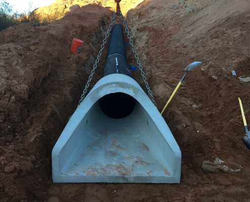 Burying the storm drain at Brookwood development in St. George, Utah
